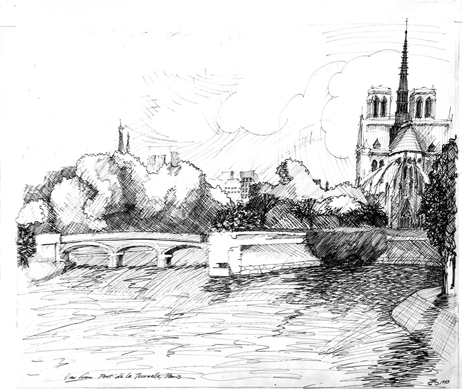 View of Notre Dame from Pont de la Tournelle, 1983