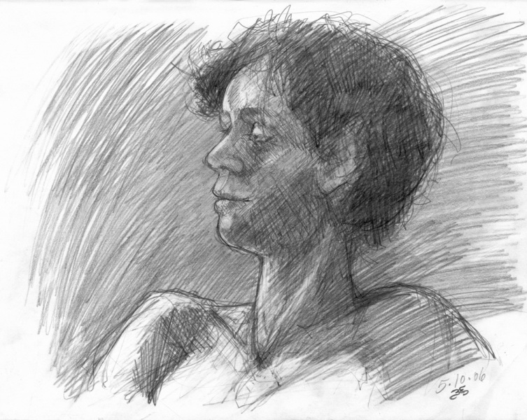 Portrait Drawing on Paper